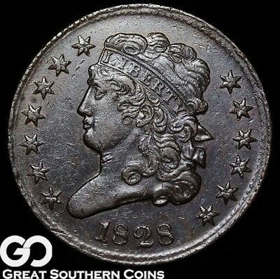1828 Half Cent, Classic Head, 13 Stars, Sharp Strike, Choice Uncirculated++/BU