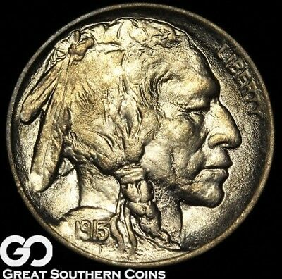 1913 Buffalo Nickel, Type 1 Solid Gem BU Beauty!