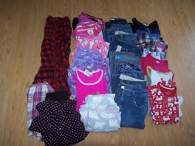 Girls Used Halloween/Fall/ Winter BTS Clothes Size 10/12 Lot of 40 Items