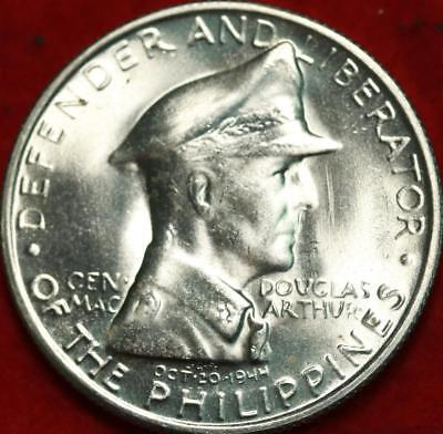 Uncirculated 1947-S Philippines 1 Peso Silver Foreign Coin Free S/H