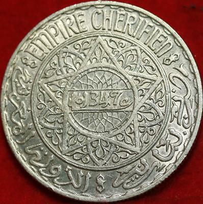 1347 Morocco 20 Francs Silver Foreign Coin Free S/H