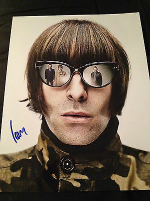 Oasis Beady Eye Liam Gallagher Autographed Signed 11x14 COA