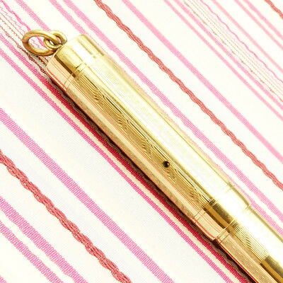 Vintage MABIE TODD SWAN Self-filler Gold Filled Overlay Art-Deco Fountain Pen