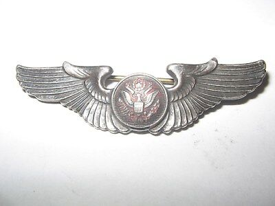 Sterling Silver Army Aviator Wings World War II Pilot  United States #b79