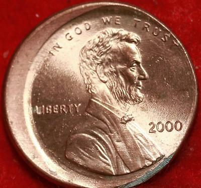 Uncirculated Red 2000 Philadelphia Mint Lincoln Cent Off Center Error Free S/H