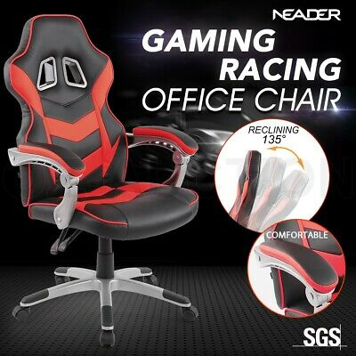 High Back Gaming Racing Chair Executive Computer Office Sport Race Seat - Red