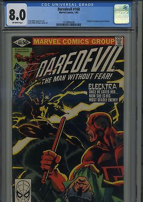 Daredevil 168 First Elektra CGC 8.0