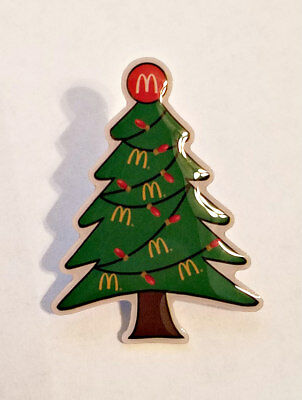 New McDonald's Lapel Pin Christmas Holiday Tree Golden Arches Garland
