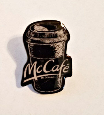 New McDonald's Lapel Pin Christmas Holiday McCafe Cup Chalk