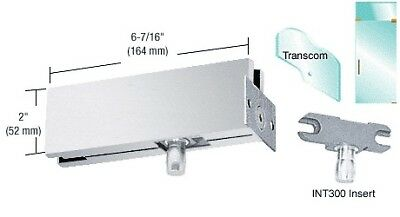 Brushed Stainless Wall Mounted Transom Patch With 1NT300 Insert