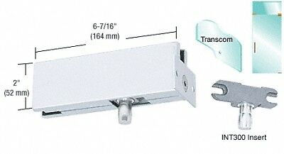 Satin Anodized Wall Mounted Transom Patch With 1NT300 Insert
