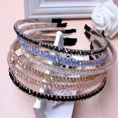 Wedding Women Girls Kids Pearl Wave Crystal Hair Band Headband Crown Headwear