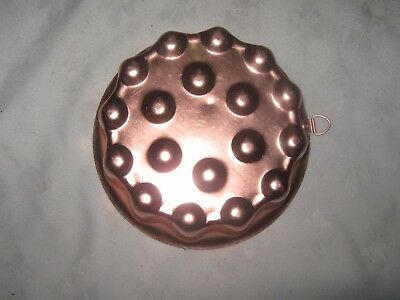 A Vintage Retro Salmon Pink Anodised Aluminium Hanging Jelly Mould
