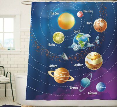 Sunlit Space Theme Solar System Planets Stars and the Milky Way Galaxy Fabric