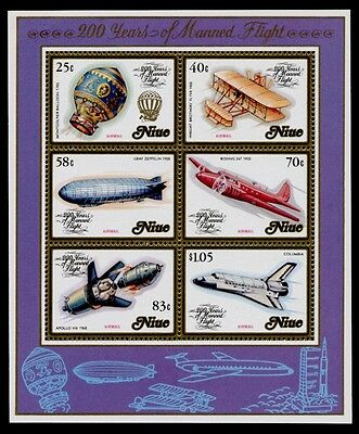 Niue 394a MNH Aircraft, Manned Flight Bicentenary