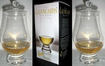 (2) Glencairn Whiskey Glasses W / Two Ginger Jar Tops