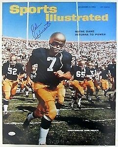 John Huarte Signed Notre Dame 16x20 Photo Sports Illustrated Cover JSA