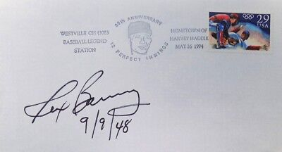 Rex Barney Brooklyn Dodgers Signed First Day Cover 9/9/48 Insc.