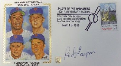 Rod Gaspar New York Mets Signed First Day Cover