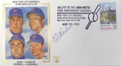 Ed Charles New York Mets Signed First Day Cover