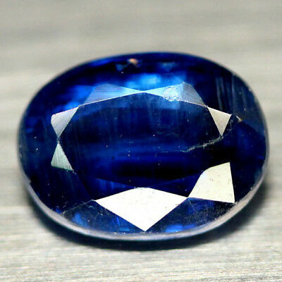 1.68 CT REAL! UNHEATED 6 X 8 mm. BLUE NEPAL KYANITE OVAL