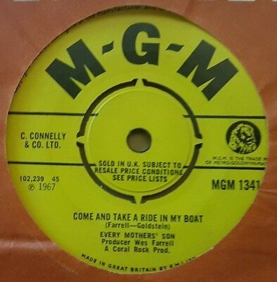 """Every Mother's Son - 1967 - """"Come And Take A Ride In My Boat"""" -  MGM - *EX*"""