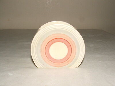 Clarice Cliff Art Deco Bizarre Pink Banded Bonjour Bowl As Found