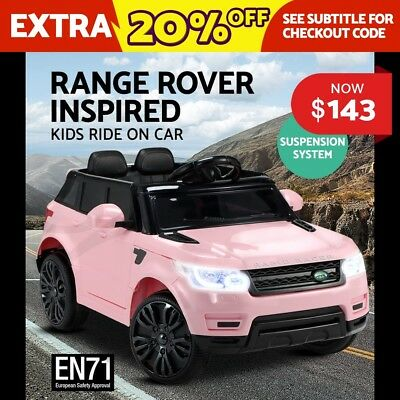 Kids Ride-On Car Range Rover Sport Coupe Electric Toys Battery Remote Pink 12V