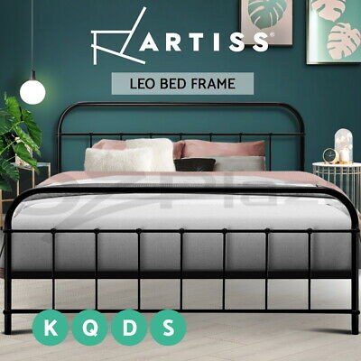 Artiss QUEEN KING DOUBLE SINGLE Metal Bed Frame Mattress Base Size Bedroom BK/WH