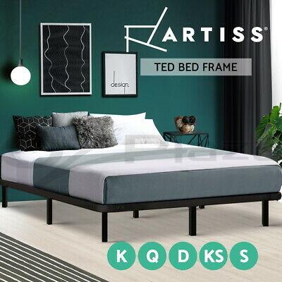 【20%OFF $68+】Queen Double King Single Metal Bed Frame Mattress Base Size Timber
