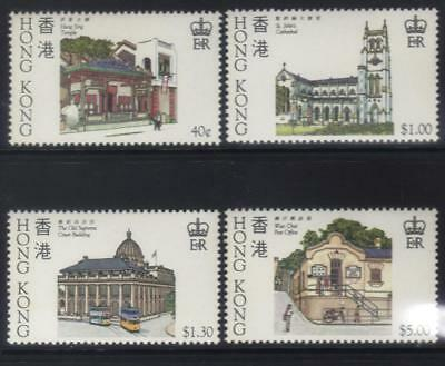 Hong Kong 1985 Historic Buildings Mnh Set Of 4