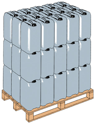 Pallet of 80 x  25L Litre Water Container Drum & Air Tight Cap Food Grade