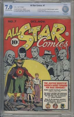 ALL STAR COMICS 7 - CBCS 7.0 - 1st Time Superman And Batman Together - DC Comics