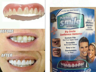 2017 Perfect Instant Smile Comfort Fit Flex Teeth Top Cosmetic Veneer One Size