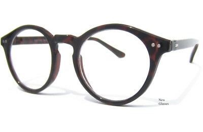 CLEAR LENS GLASSES Rounded Hipster Retro Smart Nerd Retro Fashion Tortoise Shell