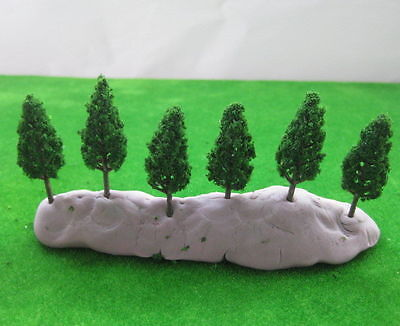 S4815 50pcs Model Pine Trees Deep Green For N Z Scale Layout 48mm New