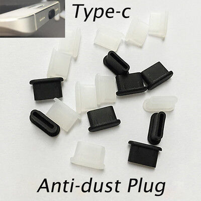 10Pcs Silica Gel Dust-proof Plug for USB Type-c Interface Support for Samsung