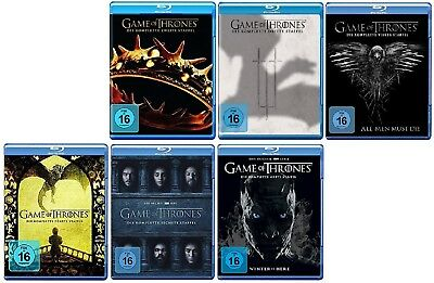 Game of Thrones Staffel 2-7 (2+3+4+5+6+7) Blu-ray Set NEU OVP