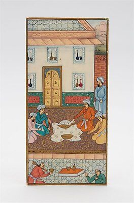 Fine Antique Indian Miniature Traders Watercolour 19Th C.