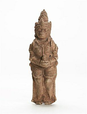 Antique Indonesian/burmese Stucco Guardian Figure