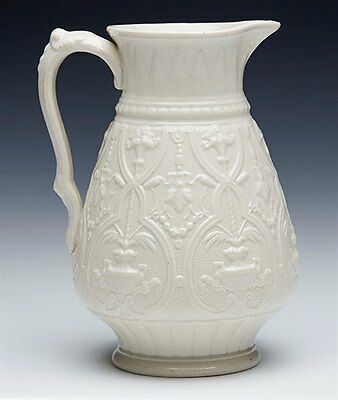 Antique English Classical Molded Jug Marked Oxford 1874