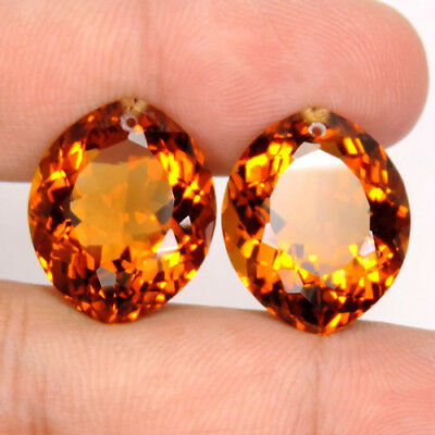 37.10 ct. Charming Marquise Cut Madeira Citrine Drilled