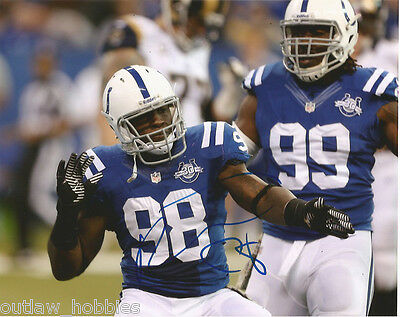 Indianapolis Colts Robert Mathis Autographed Signed 8x10 Photo COA A