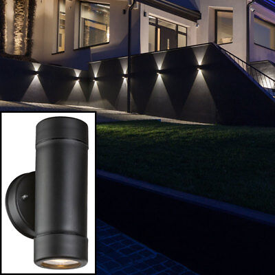 led wand leuchte garten lampe terrassen beleuchtung up down haus spot strahler eur 17 40. Black Bedroom Furniture Sets. Home Design Ideas