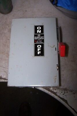 Ge 30 Amp Fused Safety Switch 600 Vac 20 Hp 3 Phase Th3361
