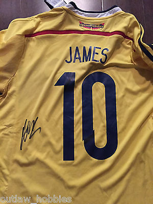 Colombia James Rodriguez Autographed Signed Mens M Jersey COA BNWT