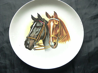 China Wall Plate, Horses Head Design,