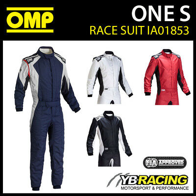 IA01853 OMP ONE S RACE SUIT LIGHTWEIGHT with STRETCH DRY SYSTEM FIREPROOF FIA