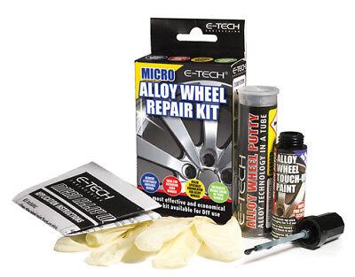 E-Tech Micro DIY Car Vehicle Alloy Wheel Putty Touch Up Paint Stick Repair Kit
