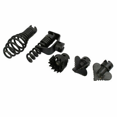 Manganese Steel Drain Cleaner Combination Cutter Set Black